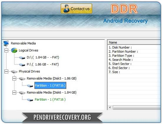 Screenshot of Android Recovery Software
